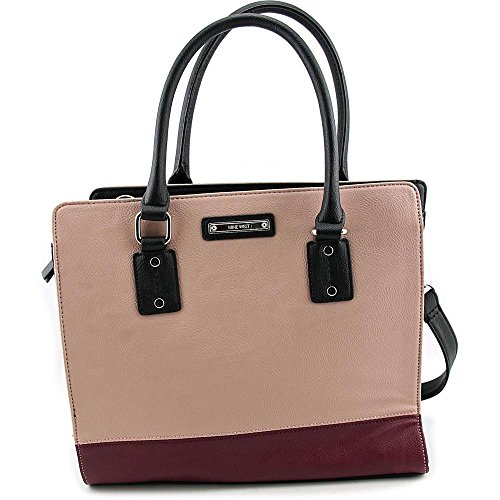 nine-west-you-and-me-satchel-femmes-rose-cartable