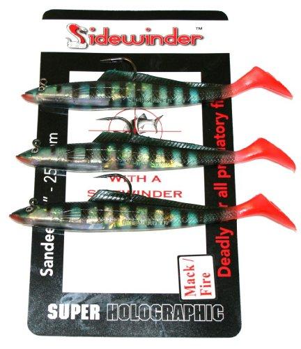 Sidewinder Fischköder Sandaal / Makreele Mehrfarbig Mackerel / Fire 15,2 cm (Sidewinder Stück 3)