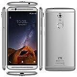 """ZTE AXON 7 MINI (32GB) - Smartphone libre Android 6.0 (4G Lte, Pantalla 5.2"""" AMOLED, Cámara 16 Mp PDAF, Snapdragon 617 Octa Core, 3GB RAM, Altavoz Dual, HiFi, Carga rápida 2.0, Cristal curvado 2,5D, Lector de huellas dactilares), Gris"""