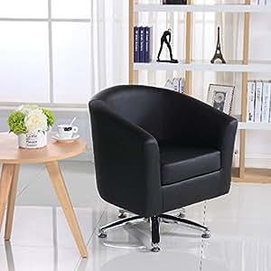 designer leder drehstuhl armsessel f r wohnzimmer esszimmer b ro oder den empfang 71w x 64d. Black Bedroom Furniture Sets. Home Design Ideas