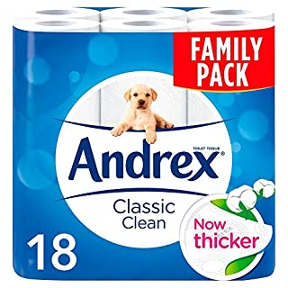Andrex Classic Clean Toilet Tissue, 18 Rolls