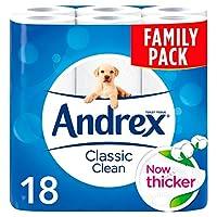 Andrex Classic Clean Toilet Tissue, 18 Rolls