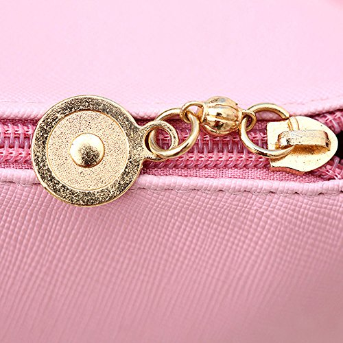 TIFIY Damen Mädchen Imperial königlich Krone Crown Schale Tasche Crossbody Schultertasche (Schwarz) Rosa