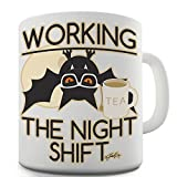 TWISTED ENVY Divertido Taza de café Funny Bat Working The Night Shift cerámica Taza