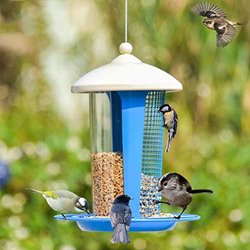 ZHANGZHIYUA Wild Bird Feeder Attraktiv für die Gartendekoration. Große Bird Feeder für kleine und mittlere Vögel. Leicht zu reinigen,2 -