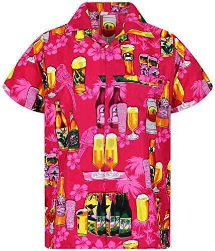 Funky Hawaiihemd, Bierpink,3XL