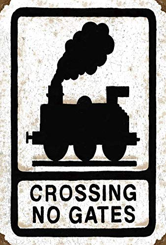 Taco Thursday Crossing No Gates Train Peinture sur Fer Affiche en métal Vintage Panneau en Fer Blanc Panneau de signalisation Murale pour la Maison Dortoir