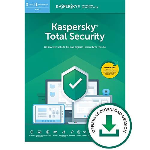 Kaspersky Total Security 2020 Standard | 3 Geräte | 1 Jahr | Windows/Mac/Android | Aktivierungscode per Email