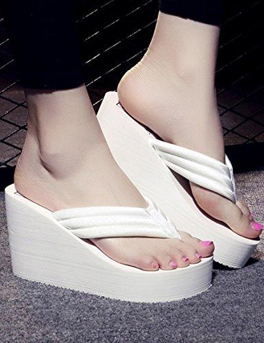 Sommer cn34 Modische Pantoffeln Eu35 uk3 Cm Mit Hoch B Anti Farbe Dem erdrutsch Weibliche Hausschuhe C Dicke Wort Größe 9 Kühle 7xAPqwq