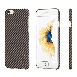 PITAKA minimalistische iPhone 6 Plus/ iPhone 6s Plus Hülle, Aramid-Faser [Kugelsicheres Material] Handyhülle Dünne(0.65mm) Ultra Leicht(8g) Hochwertige Langlebige Schutzhülle mit Schutzfolie für iPhone6 Plus/6s Plus, Schwarz/Gold(5,5 Zoll)