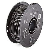 HATCHBOX 3,00 mm Schwarzes PLA-Filament für 3D-Drucker - 1 kg-Spule - Maßgenauigkeit +/- 0,03 mm