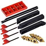 Juego de 10 piezas de insertos de metal duro DCMT0702 + 4 piezas de 12 mm S12M-SDUCR07 /...