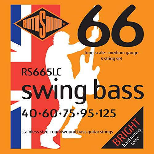 Rotosound RS665LC Swing Bass Saiten für E-Bass Gitarre (5-String) - Electric Bass 5-string