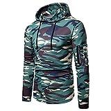 UFACE 2018 Homme Camouflage Sweat À Capuche Zippé Poches Sweat-Shirt Casual Nouvelle Saison Sports Veste Manteau Manches Longues Coat Hoodie