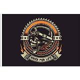 Bandiera bandierina Skull Biker for Life