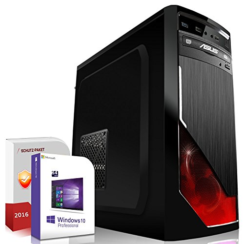 Gaming PC / Multimedia COMPUTER inkl. Windows 10 Pro 64-Bit! - Quad-Core Intel Core i5-7600K 4x 4,2 GHz Turbo - NVIDIA GeForce GTX 1050 Ti mit 4GB GDDR5 - 8GB DDR4 RAM - 1000GB HDD - 24-fach DVD Brenner - USB 3.0 - HDMI - DVI - Gamer PC mit 3 Jahren Garantie!