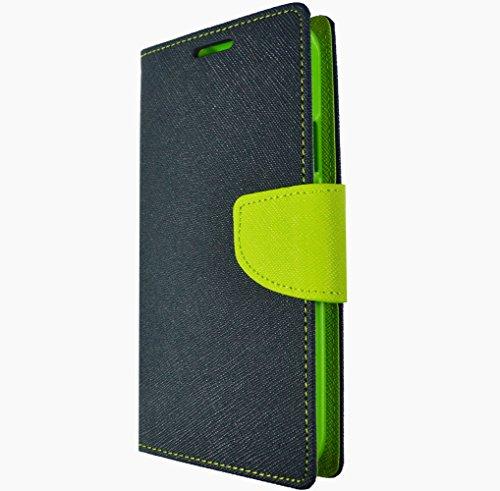 Handy Tasche Flip Cover Hülle Etui Klapptasche Book Tasche Für Samsung Galaxy J1 J100 Grün Blau + Displayschutzfolie Blau Grün + Displayschutzfolie