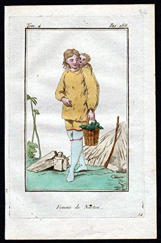 Femme de Norton - Norton New York Amerika America costume Kupferstich Tracht antique (Tracht York New)