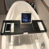 Du-TanTing Badewanne - Badewanne ausziehbarer Kleiderbügel/multifunktionale Badewanne/Handyhalter (schwarz)