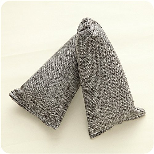 n Natuerlicher Lufterfrischer Schuhdeo Bamboo Charcoal Bag Odor Deodorant - Grau ()