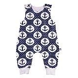 Eve Couture Babykleidung Baby Strampler Junge Anker Rockabilly Punkte blau (62/68)