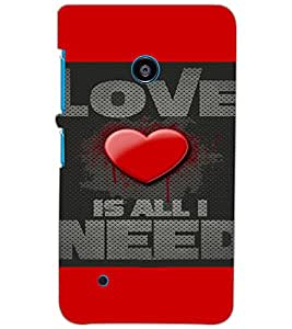 NOKIA LUMIA 530 DUAL LOVE Back Cover by PRINTSWAG