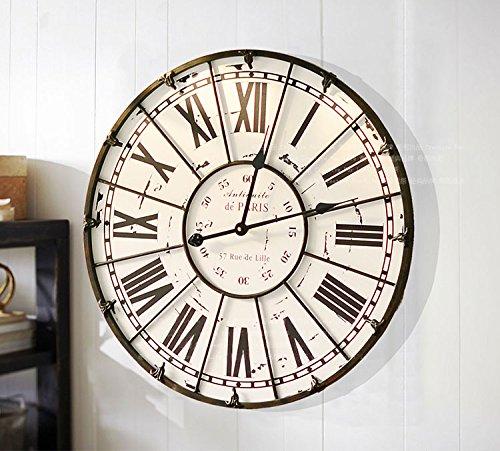 Y-hui fer romain afin d'art décoratif de l'ancien français Horloge Murale Salon d' Grande horloge murale, l'autre à Rome (B) 60 cm diamètre plateau de table