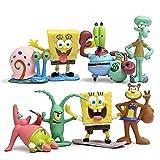 NXHJSSS Un Juego de 8 Bob Esponja Muñecos y Figuras de Acción Regalos de Juguete para Niños