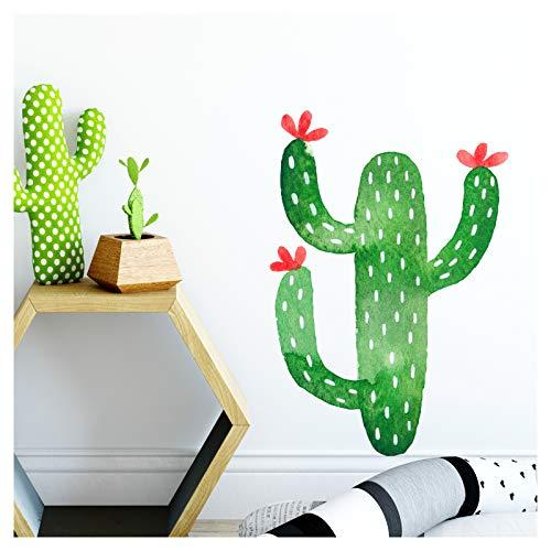 Little Deco Wandtattoo Kaktus I (BxH) 55 x 80 cm I Kinderzimmer Babyzimmer Kinder Aufkleber Sticker Wandaufkleber Wandsticker Klebeposter Stickers Kind DL136