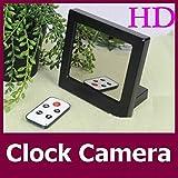 Electro-Weideworld - 1280 x 960 HD Réveil Caché Espion Caméra Motion détective Miroir Table Horloge DVR Caméscope avec télécommande