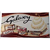 With full and snack size Galaxy chocolates in a stylish box, the Galaxy Collection Large Selection Box 259g is the ideal festive gift for any chocoholic!