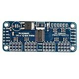 Haljia 16-Kanal, 12-Bit PWM Servo-Motor-Treiber I2C, Modulleiterplatte PCA9685 für Arduino / Roboter / Raspberry Pi