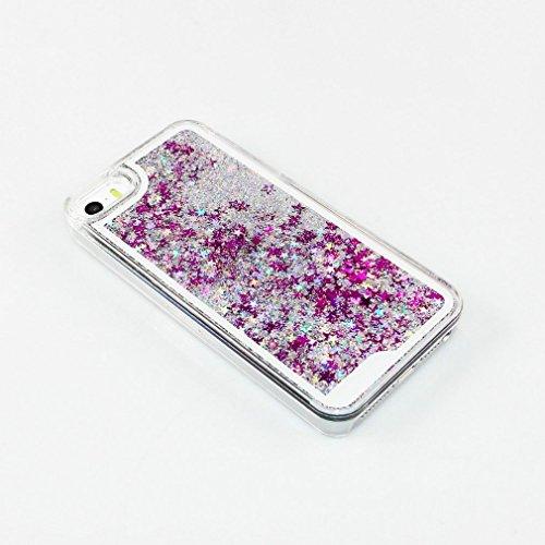 Transparent Hülle für iPhone 6S,Glitzer Hülle für iPhone 6S,EMAXELERS Crystal Hard Case Hülle für iPhone 6 6S,iPhone 6S Case Transparent Glitzer Flower Plastik Schutzhülle Hülle für iPhone 6,Bunte Sta G Stars 7