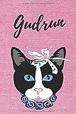 Gudrun Notizbuch Katze / Malbuch / Tagebuch / Journal / DIN A5 / Geschenk:...