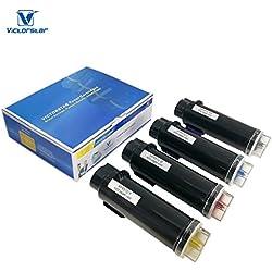 VICTORSTAR Compatible Xerox Phaser 6510 WorkCentre 6515 Cartucho de Tóner ( Negro + Cyan + Amarillo + Magenta ) 4 Colores El Rendimiento más Alto 5500 Páginas & 4300 Páginas Para Impresoras Láser Jet Xerox Phaser 6510 6510n, WorkCentre 6515 6515n 6515dn 6515dni (4 Colores)