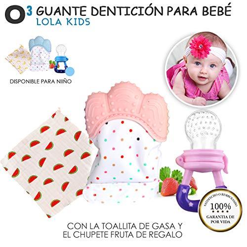 O³ Guante Dentición Bebé Lola Kids + 1 Gasas Bebe