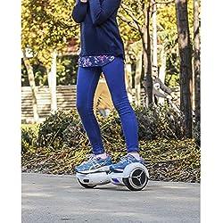 SmartGyro X1s Blue - Patinete Eléctrico Hoverboard, 6,5 Antipinchazos, LEDS, Batería de Litio Potente, Velocidad 10-12 Km/h, Self Balancing, Azul