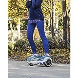 SmartGyro X1s Red - Patinete Eléctrico Hoverboard, 6.5' antipinchazos, LEDS, potente batería de litio, velocidad 10-12 Km/h, Self Balancing, monopatín eléctrico Auto-Equilibrio, color Rojo