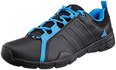 adidas Men's OUTRIDER Black and Solar Blue Multisport Training Shoes - 11 UK