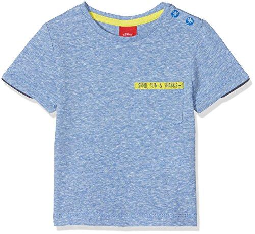 s.Oliver Baby-Jungen T-Shirt 65.805.32.5179, Blau (Blue Melange 55w3), 68