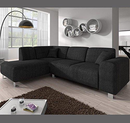 Muebles Bonitos – Sofá chaise longue modelo Galia Negro Izquierda