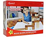 #10: Onshine Wood Marble Building Construction Toy, 1 Set (45 Pieces)