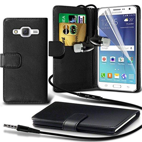 Hülle für Samsung Galaxy J7 / Samsung Galaxy J7 SM-J700F Case Universal Car Phone Halter Halterung Cradle-Dashboard & Windschutz für iPhone yi -Tronixs Wallet Earphones ( Black )