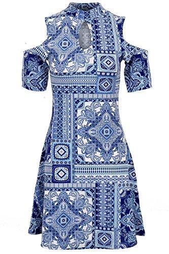 Fantasia Boutique Damen Plissee Kleid * Einheitsgröße Blau