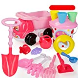 Siyushop Strand-Spielzeug, Sand-Spielzeug-Set, Multicolor Beach Toy Set - Gießkanne, Schaufel, Rake, Marine Life, Schloss Barrel, Windmühle, Auto ( Color : 4 )