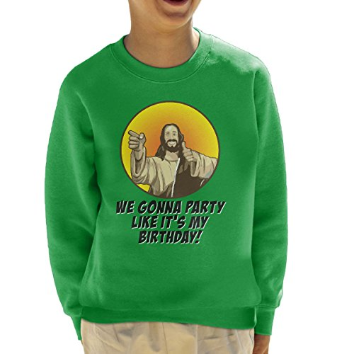 rthday Jesus Christmas Kid's Sweatshirt (Jesus Birthday Party)