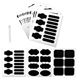 Chalkboard Labels - Bystep 116 Pcs Removable Chalkboard Labels with Erasable Chalk Marker Premium Reusable Adhesive Chalkboard Stickers perfect for Jars and Canisters