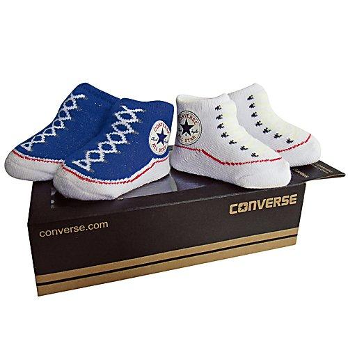 Converse Baby 2-er Geschenk-Set Socken Chuck Infant Booties blau weiß -