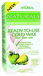 Andrea Naturals Hair Removal System Ready-to-use Cold Wax for Face, Body and...