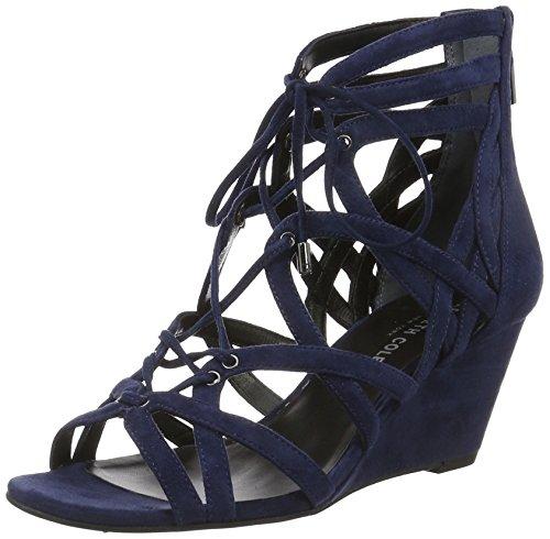 Marine-blau-leder-heels (Kenneth Cole Damen Dylan Plateau, Blau (Marine 480), 40 EU)